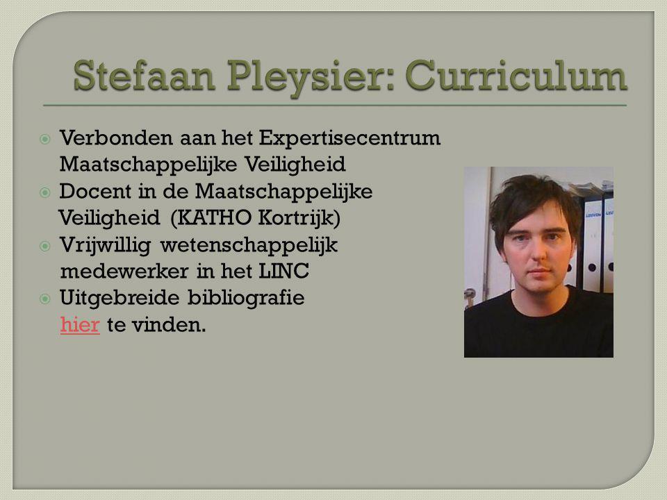 Stefaan Pleysier: Curriculum