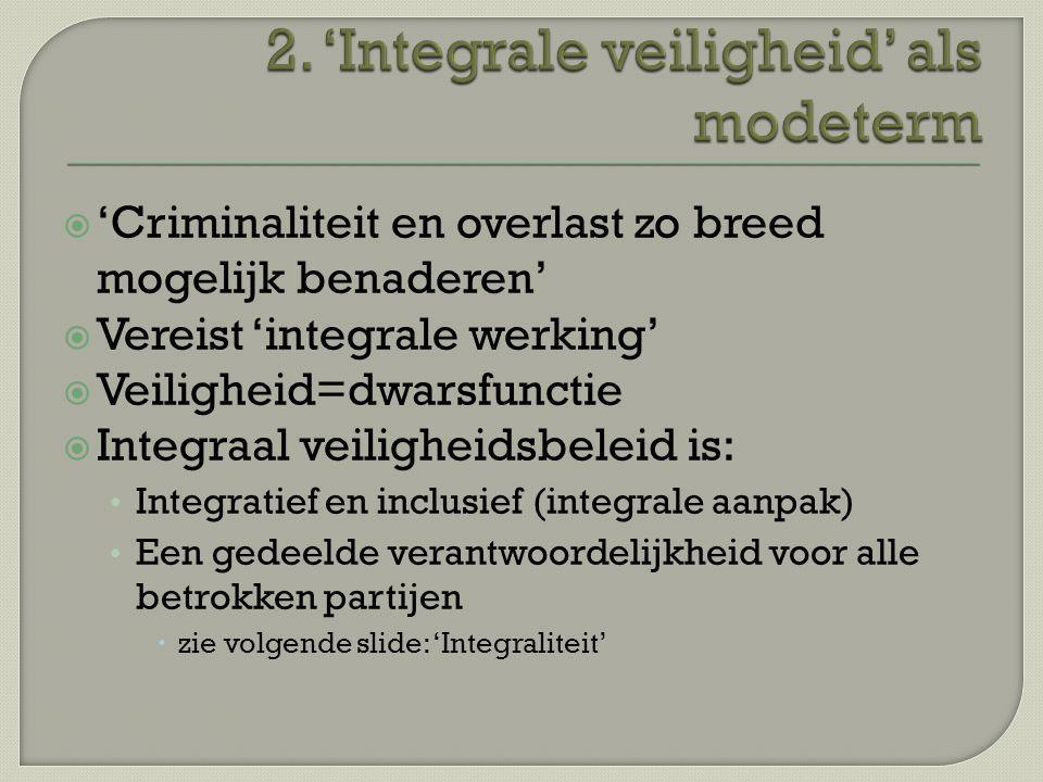 2. 'Integrale veiligheid' als modeterm