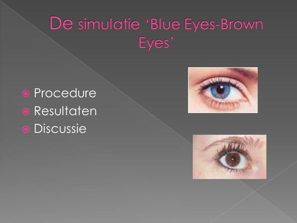 De simulatie 'Blue Eyes-Brown Eyes'