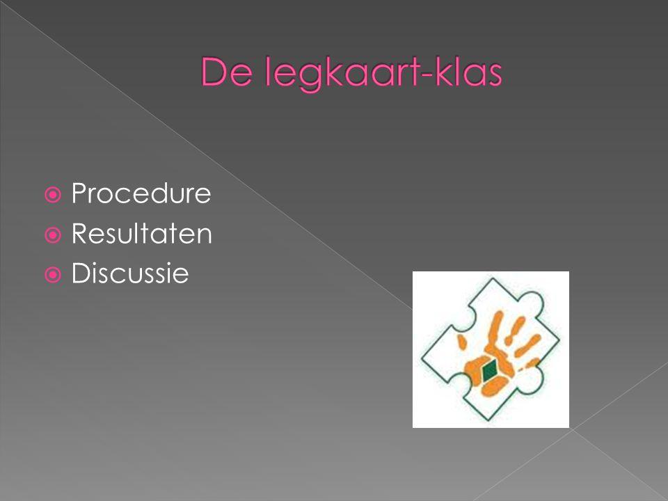De legkaart-klas Procedure Resultaten Discussie