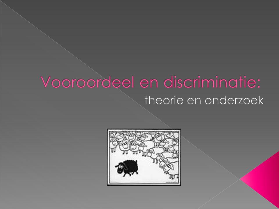 Vooroordeel en discriminatie: