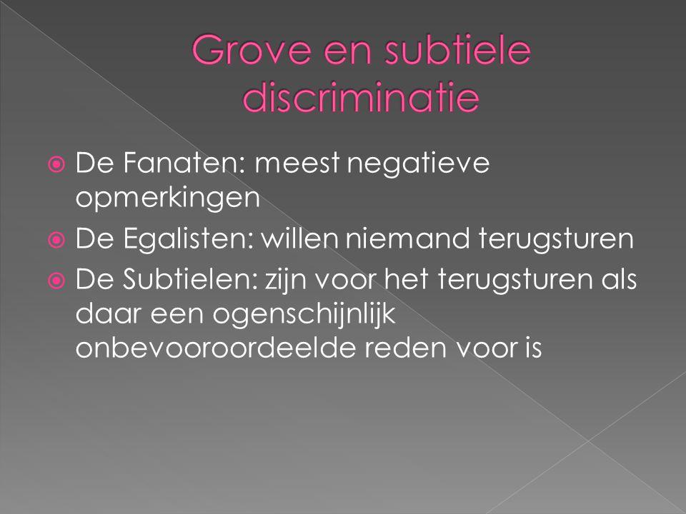 Grove en subtiele discriminatie