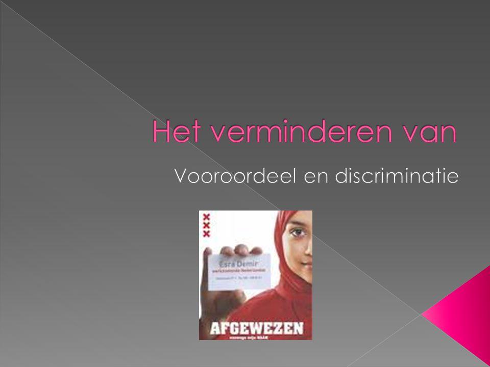 Vooroordeel en discriminatie