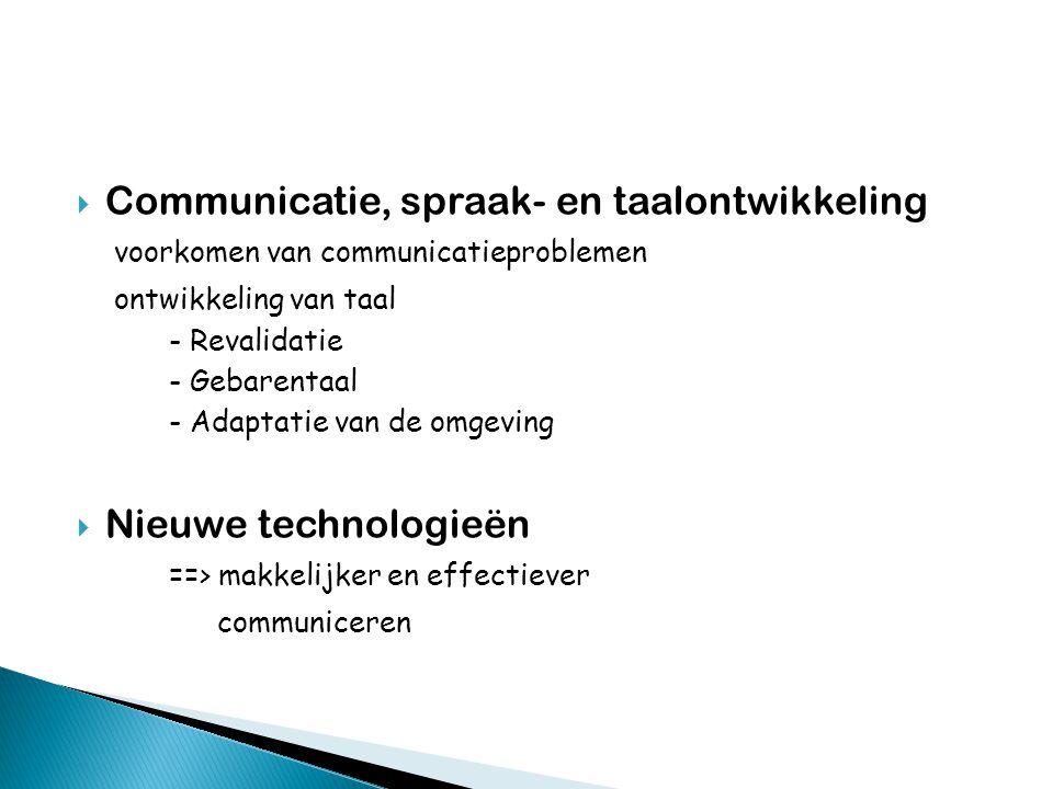 Communicatie, spraak- en taalontwikkeling