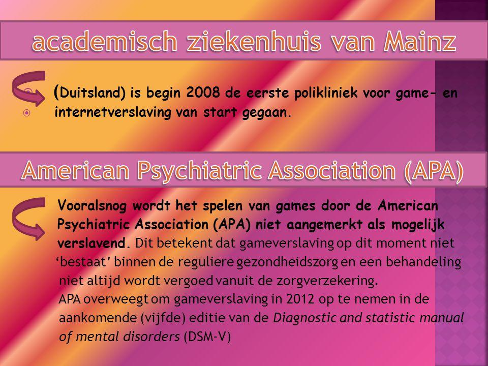 academisch ziekenhuis van Mainz American Psychiatric Association (APA)