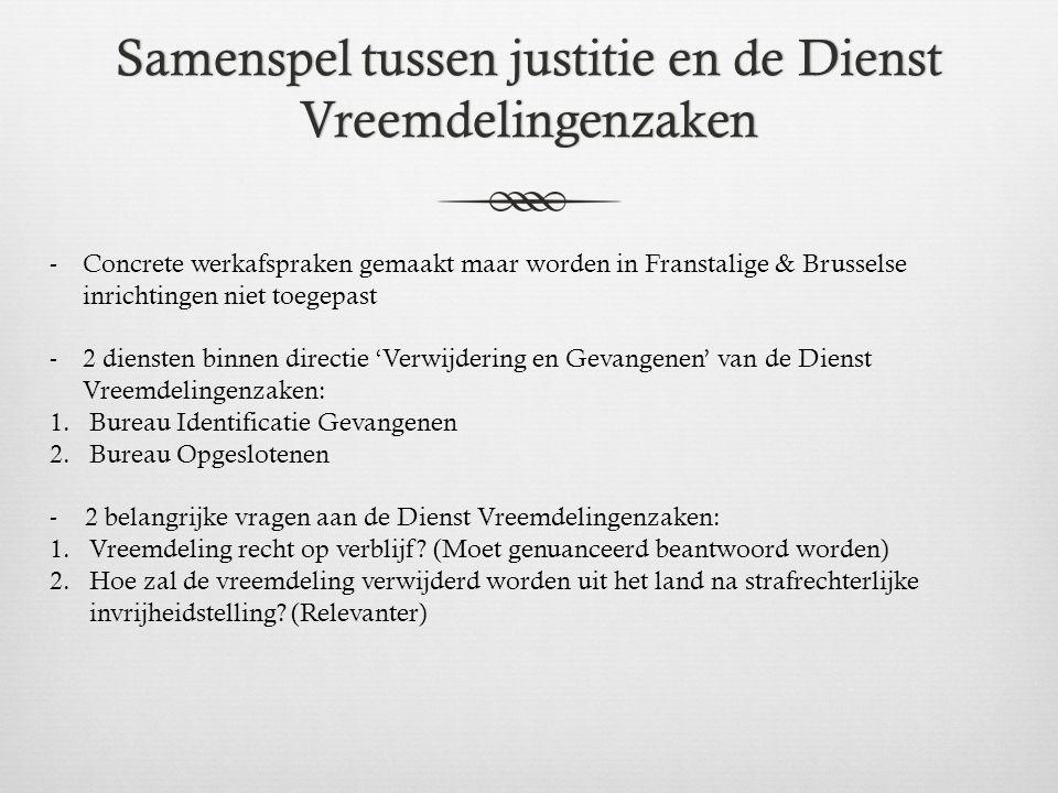 Samenspel tussen justitie en de Dienst Vreemdelingenzaken