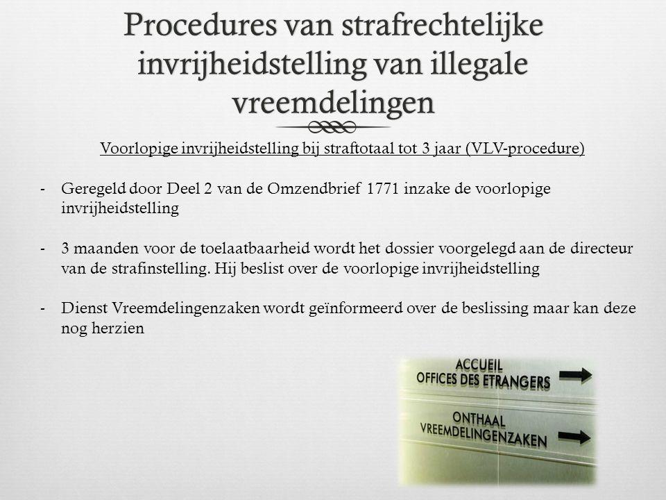 Procedures van strafrechtelijke invrijheidstelling van illegale vreemdelingen