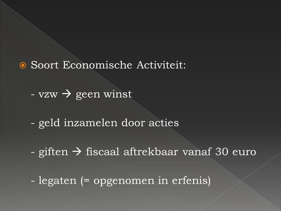 Soort Economische Activiteit: