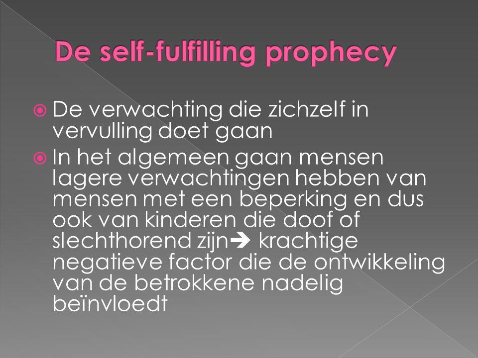 De self-fulfilling prophecy