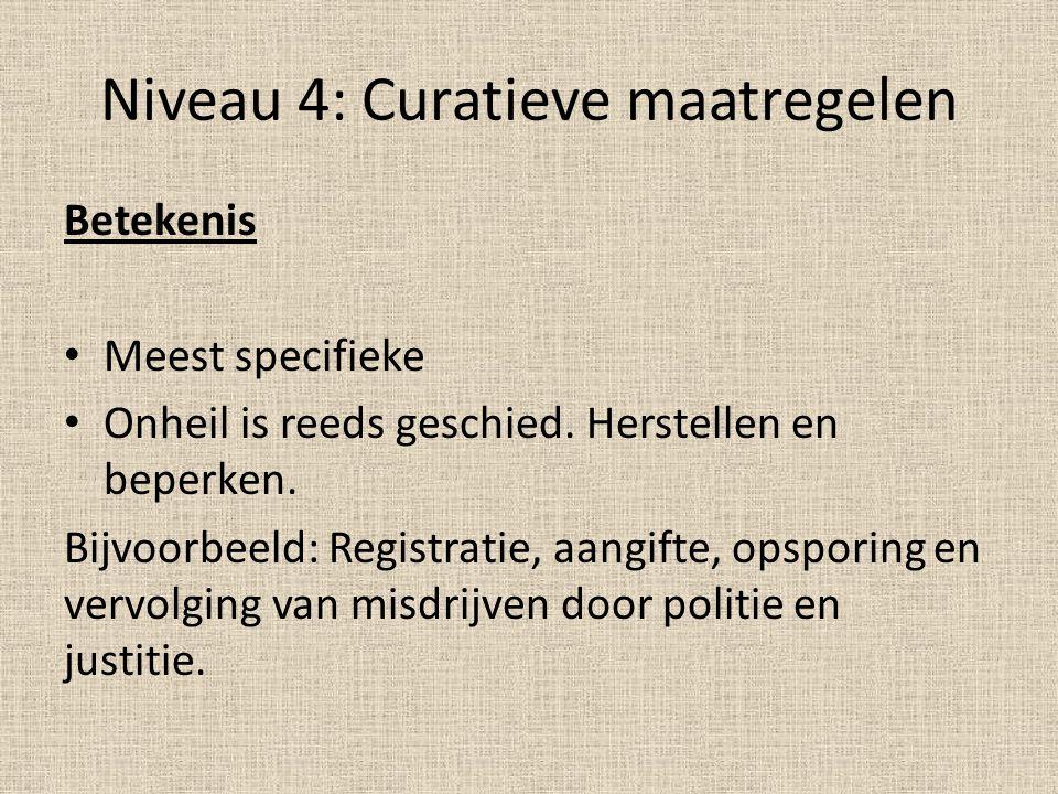 Niveau 4: Curatieve maatregelen