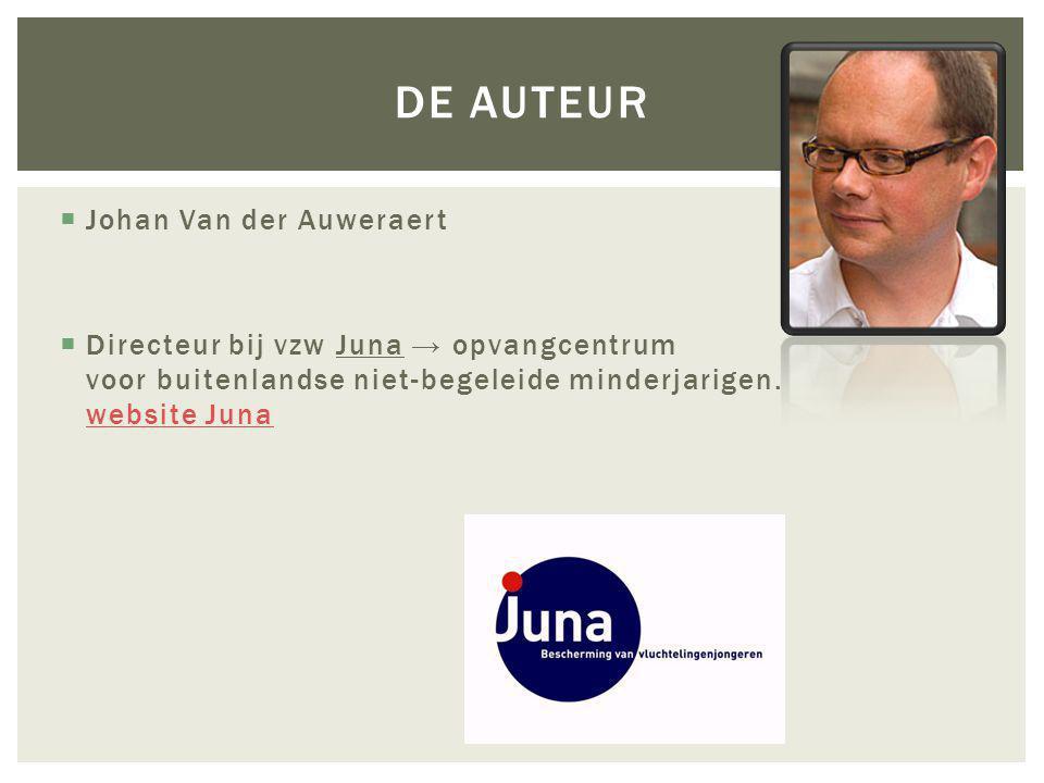 De auteur Johan Van der Auweraert