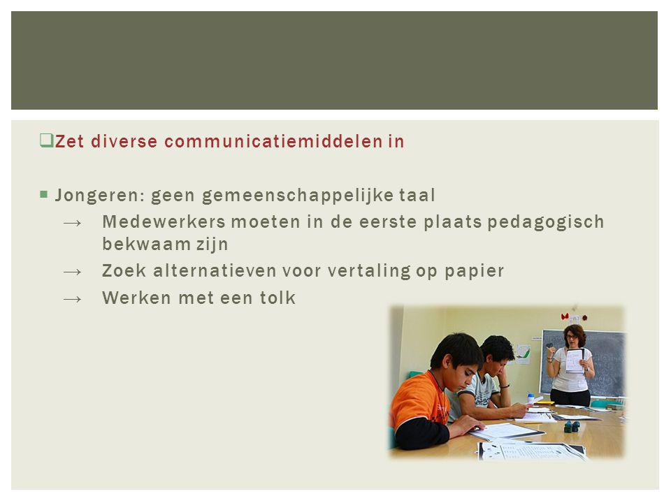 Zet diverse communicatiemiddelen in