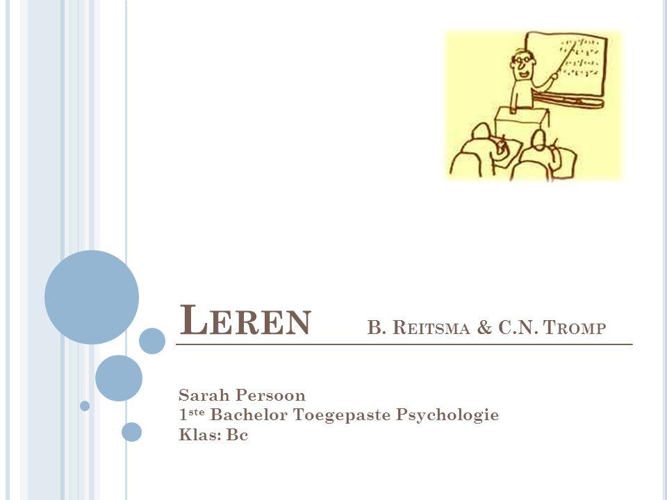Leren B. Reitsma & C.N. Tromp