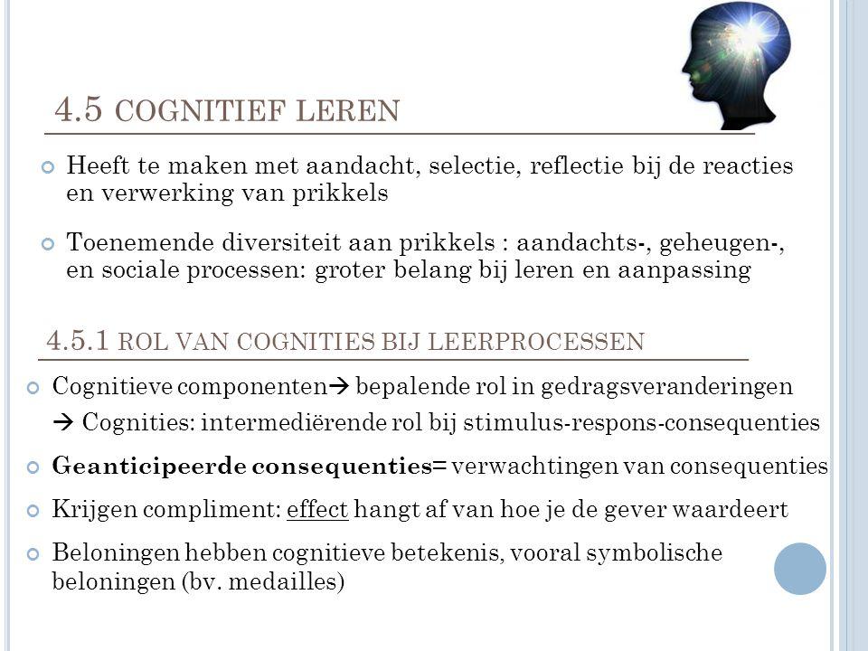 4.5.1 rol van cognities bij leerprocessen
