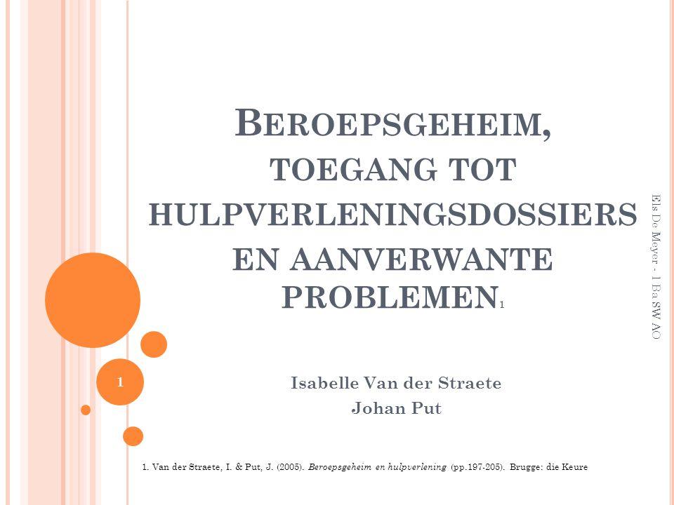 Isabelle Van der Straete Johan Put