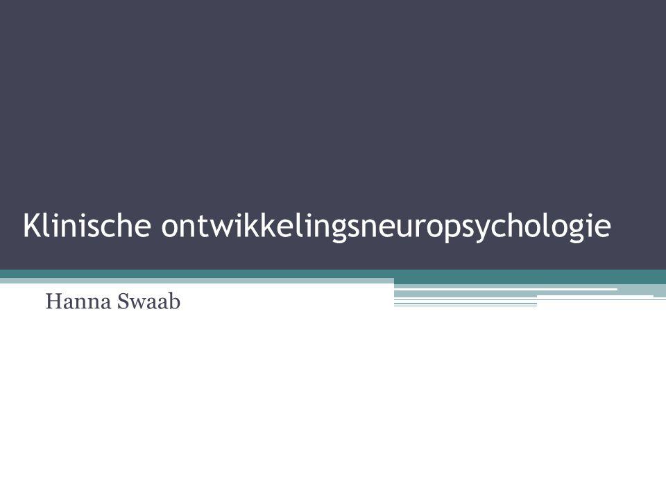 Klinische ontwikkelingsneuropsychologie