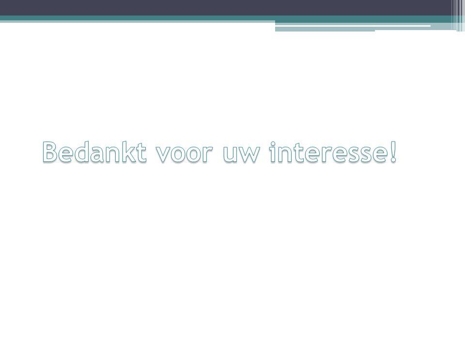 Bedankt voor uw interesse!