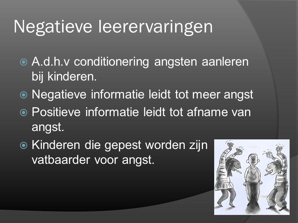 Negatieve leerervaringen