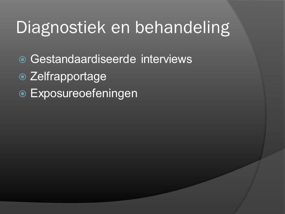 Diagnostiek en behandeling