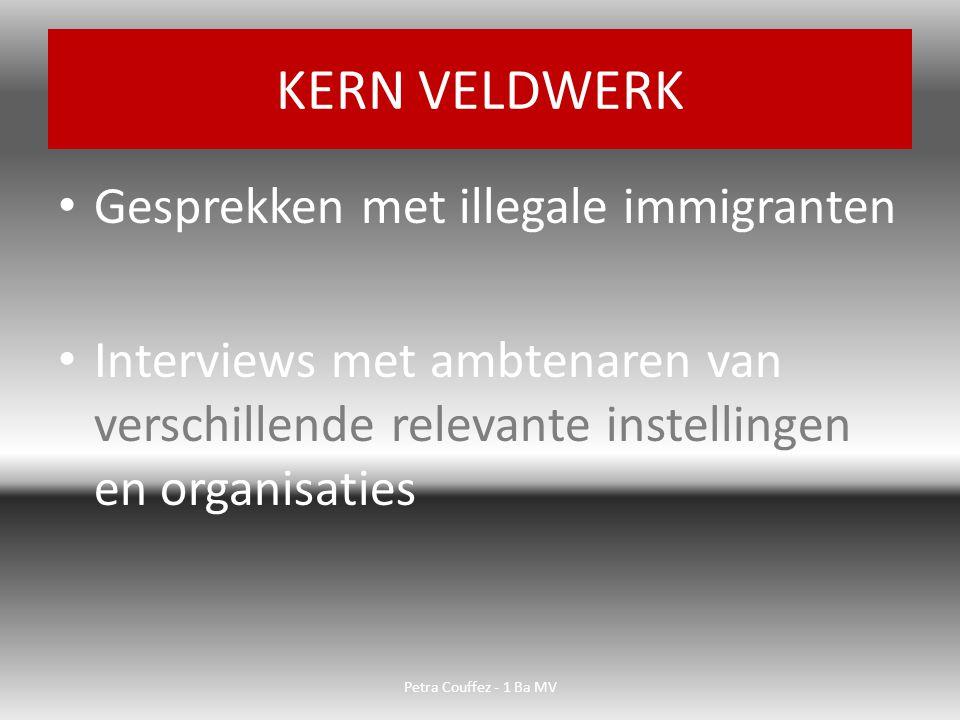 KERN VELDWERK Gesprekken met illegale immigranten