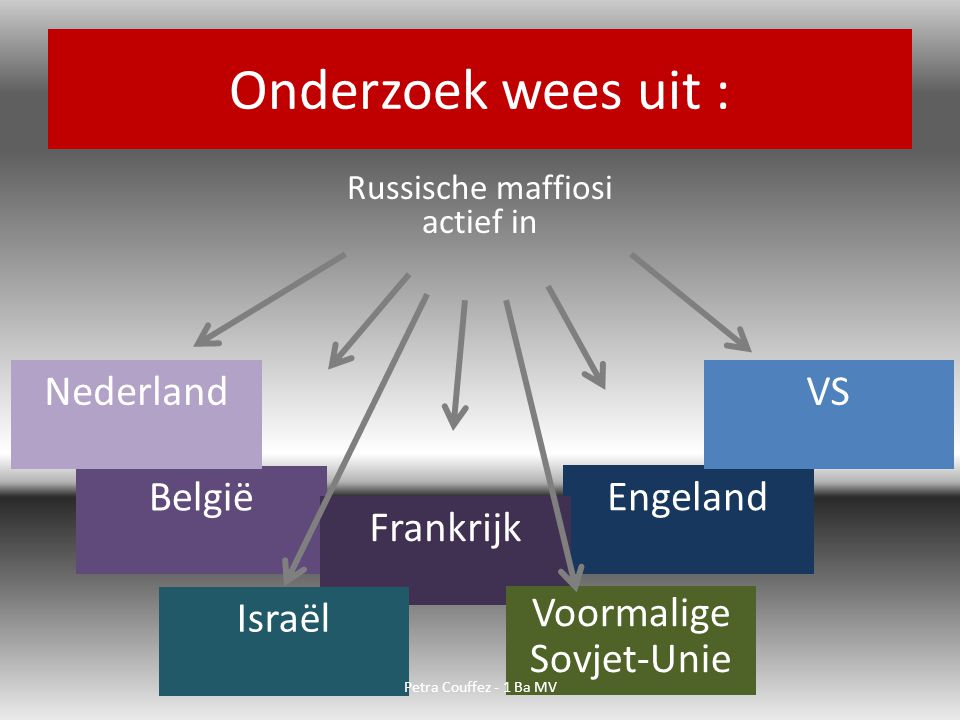 Onderzoek wees uit : Nederland VS België Engeland Frankrijk Israël