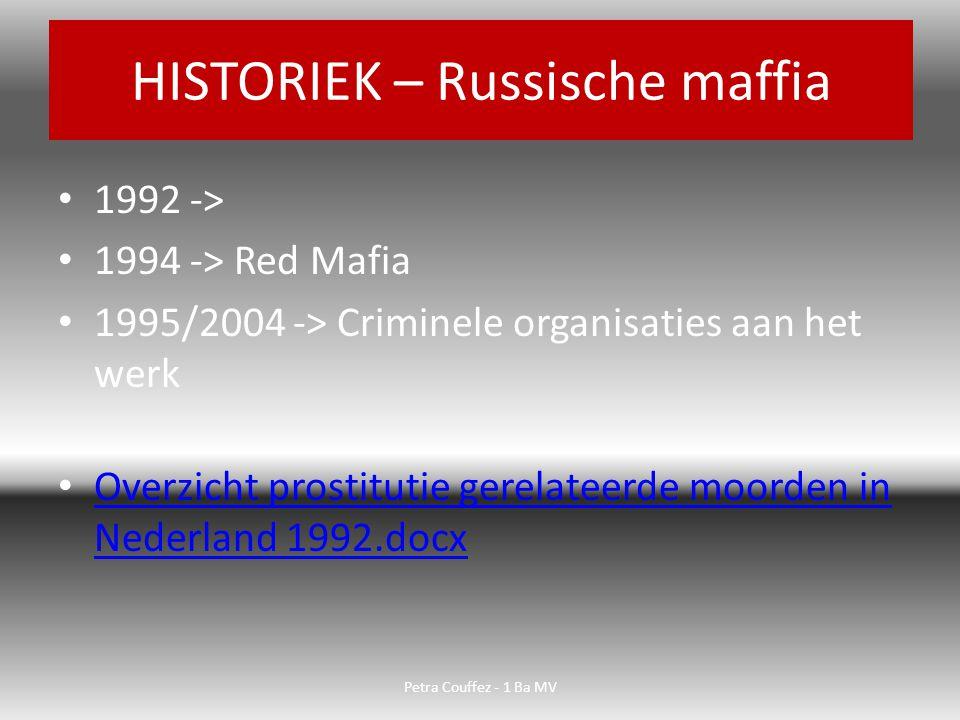 HISTORIEK – Russische maffia