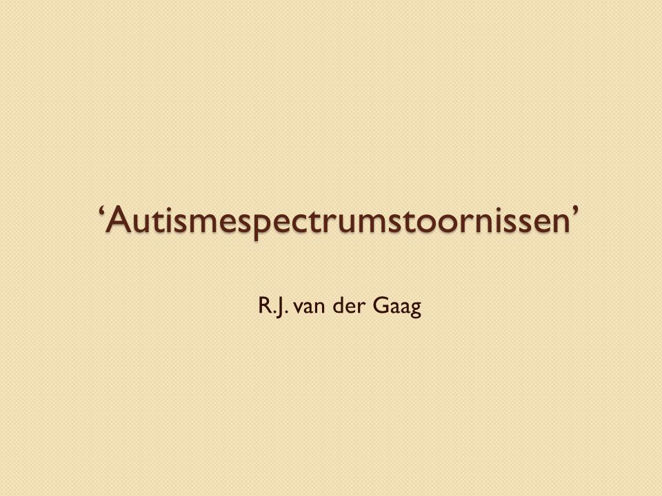 'Autismespectrumstoornissen'
