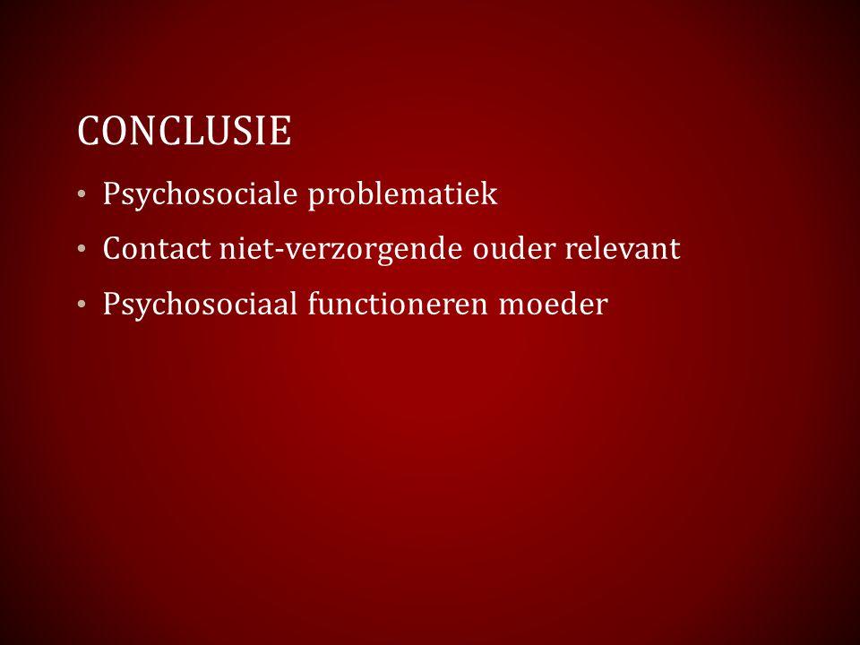 Conclusie Psychosociale problematiek