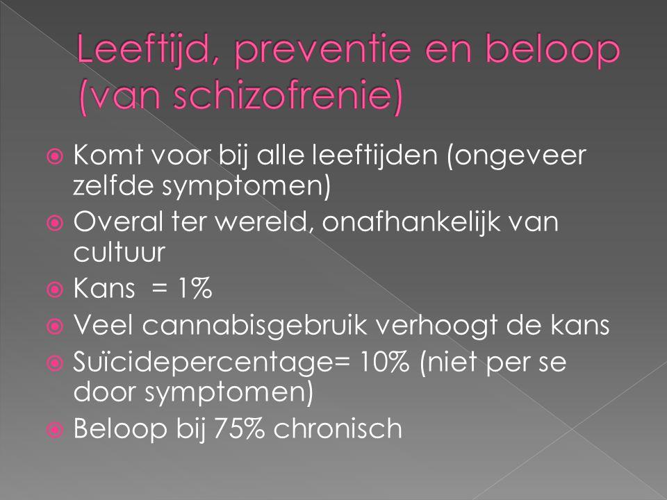 Leeftijd, preventie en beloop (van schizofrenie)