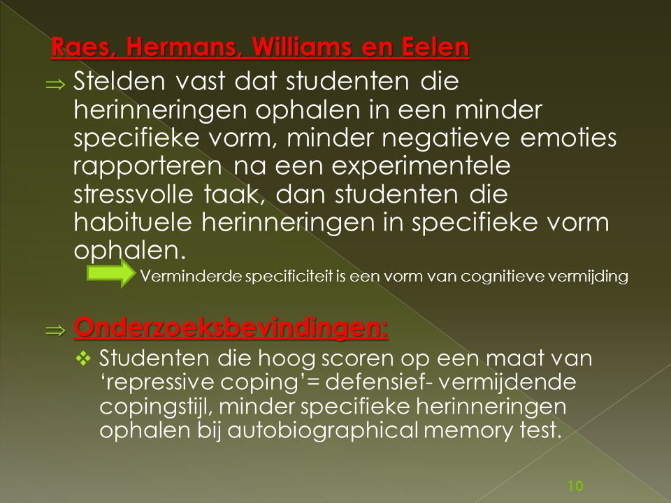 Raes, Hermans, Williams en Eelen