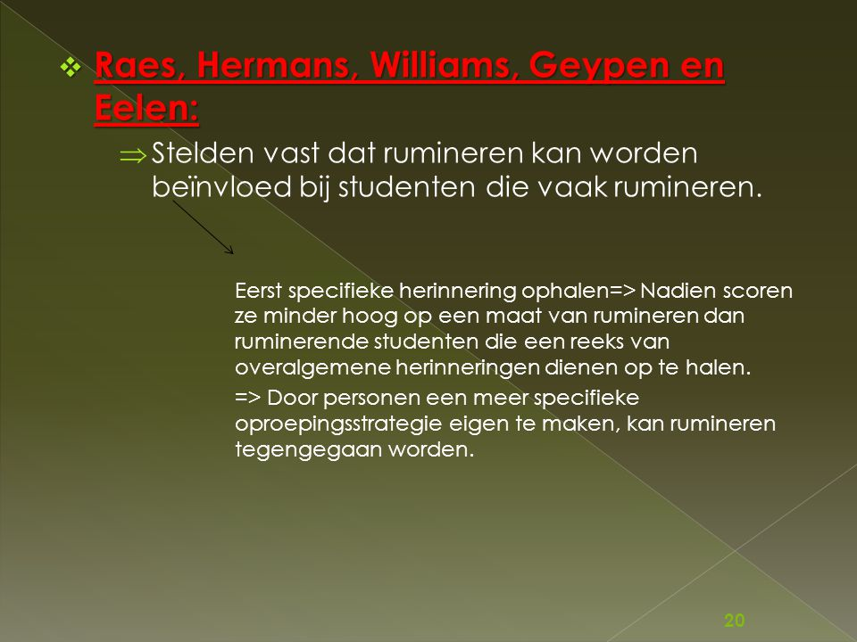 Raes, Hermans, Williams, Geypen en Eelen: