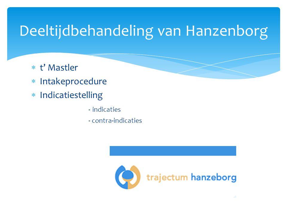 Deeltijdbehandeling van Hanzenborg