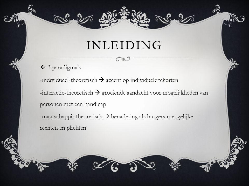 inleiding 3 paradigma s. -individueel-theoretisch  accent op individuele tekorten.