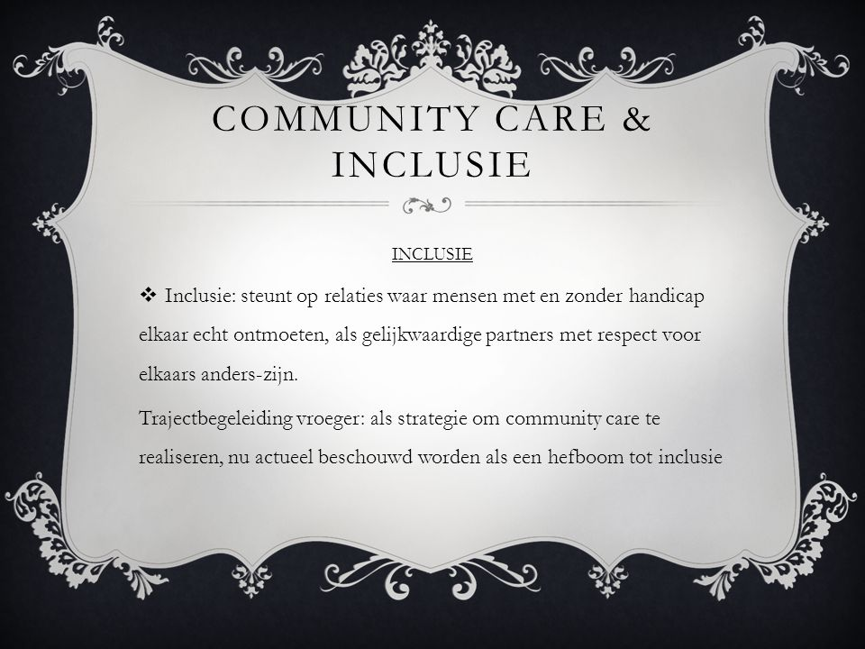 Community care & inclusie