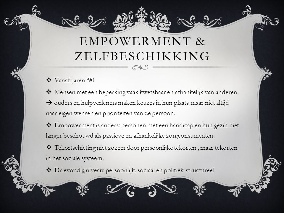 Empowerment & zelfbeschikking
