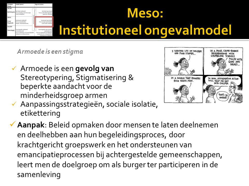 Meso: Institutioneel ongevalmodel