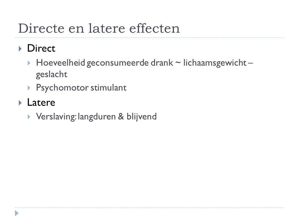 Directe en latere effecten