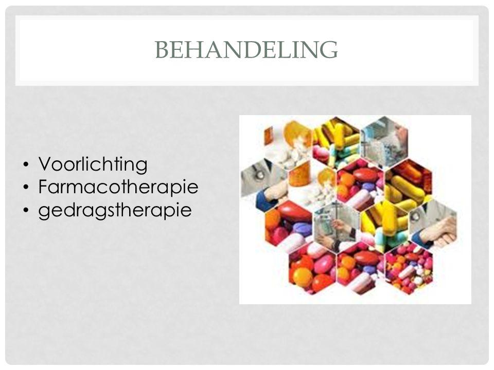 behandeling Voorlichting Farmacotherapie gedragstherapie