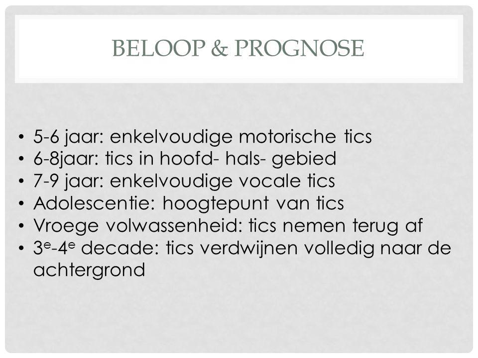 Beloop & Prognose 5-6 jaar: enkelvoudige motorische tics