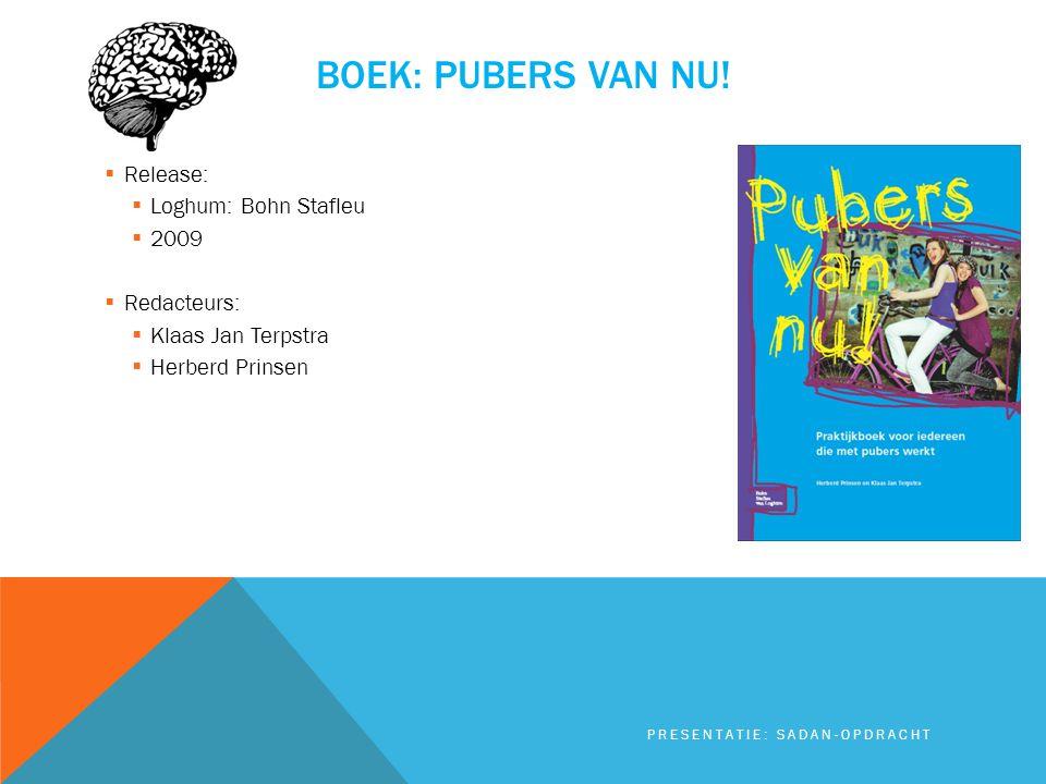 Boek: pubers van nu! Release: Loghum: Bohn Stafleu 2009 Redacteurs: