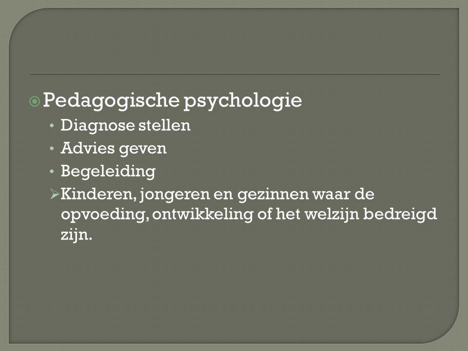 Pedagogische psychologie