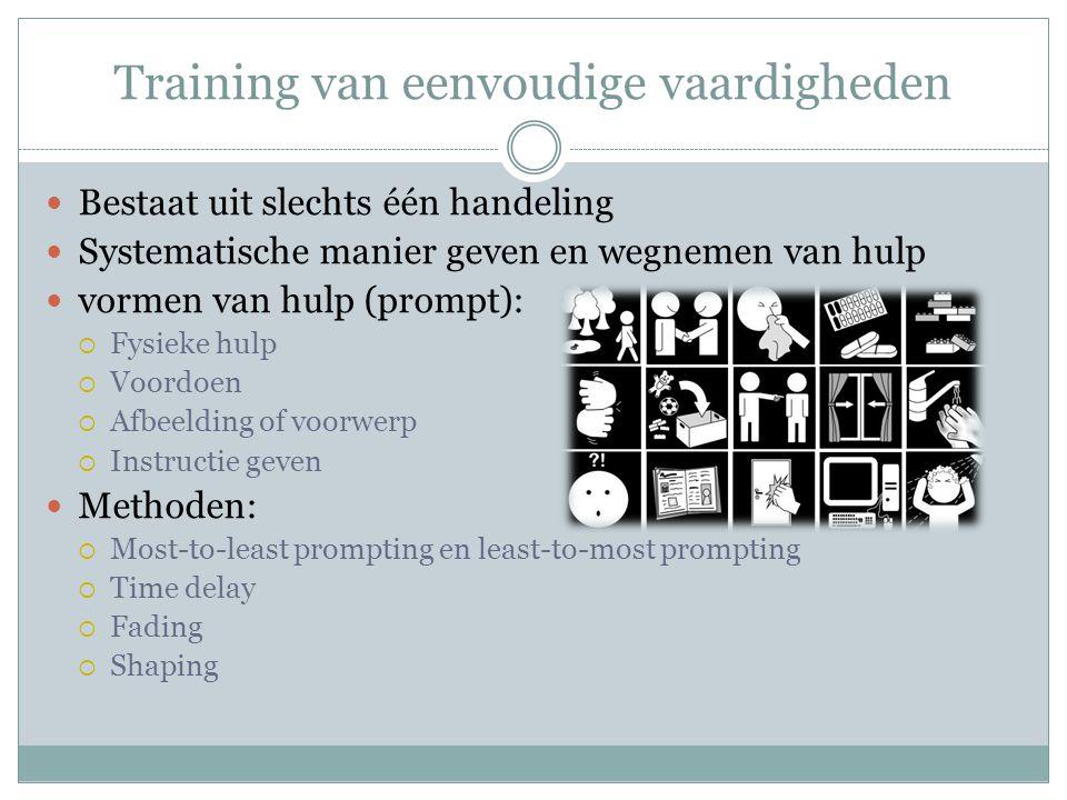 Training van eenvoudige vaardigheden