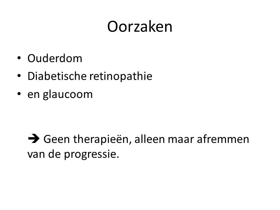 Oorzaken Ouderdom Diabetische retinopathie