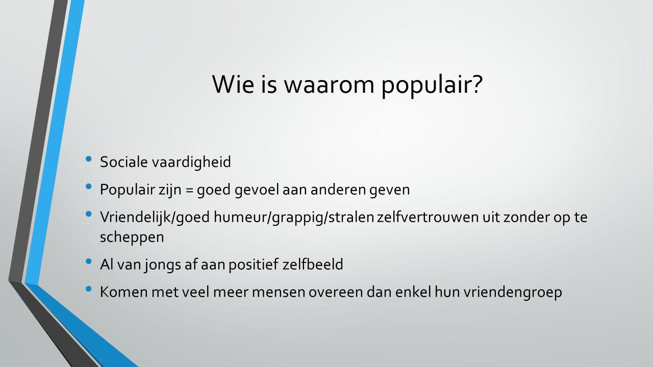 Wie is waarom populair Sociale vaardigheid