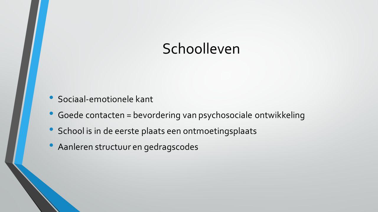 Schoolleven Sociaal-emotionele kant