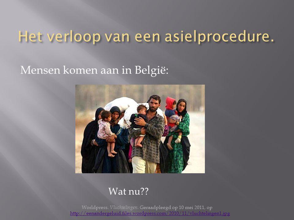 Het verloop van een asielprocedure.