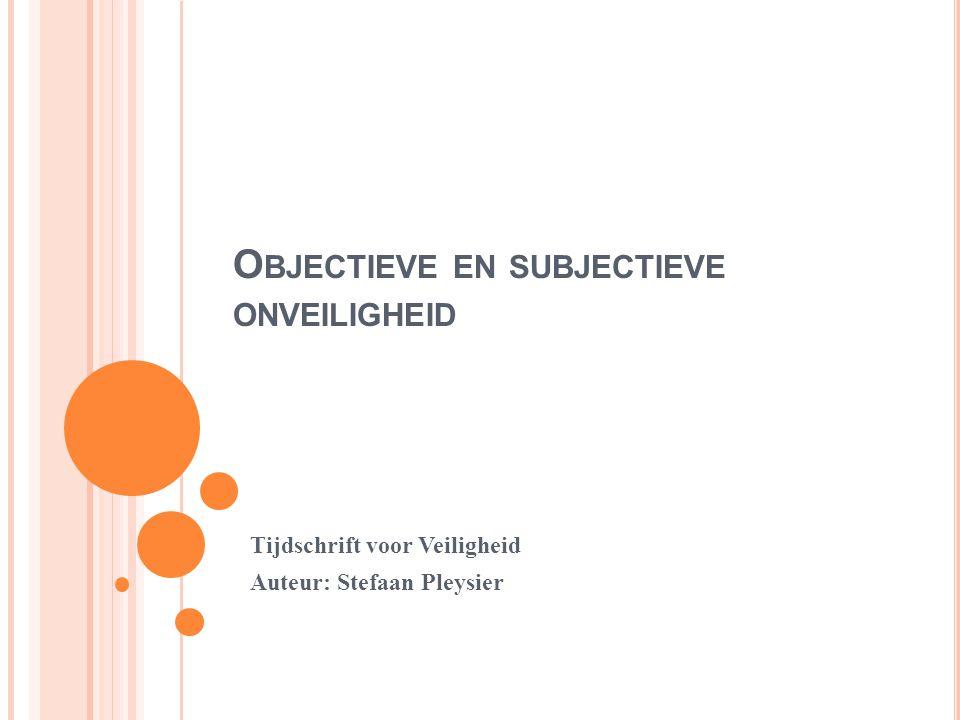 Objectieve en subjectieve onveiligheid