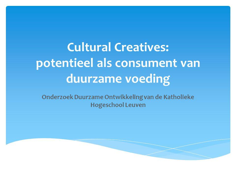 Cultural Creatives: potentieel als consument van duurzame voeding