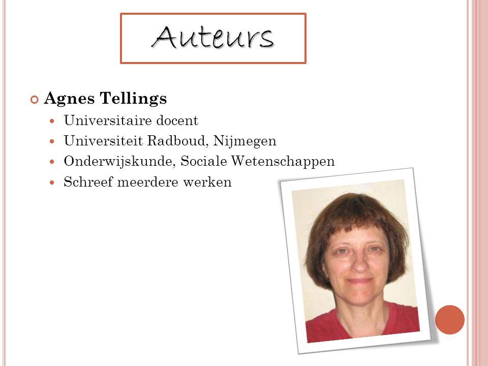 Auteurs Agnes Tellings Universitaire docent