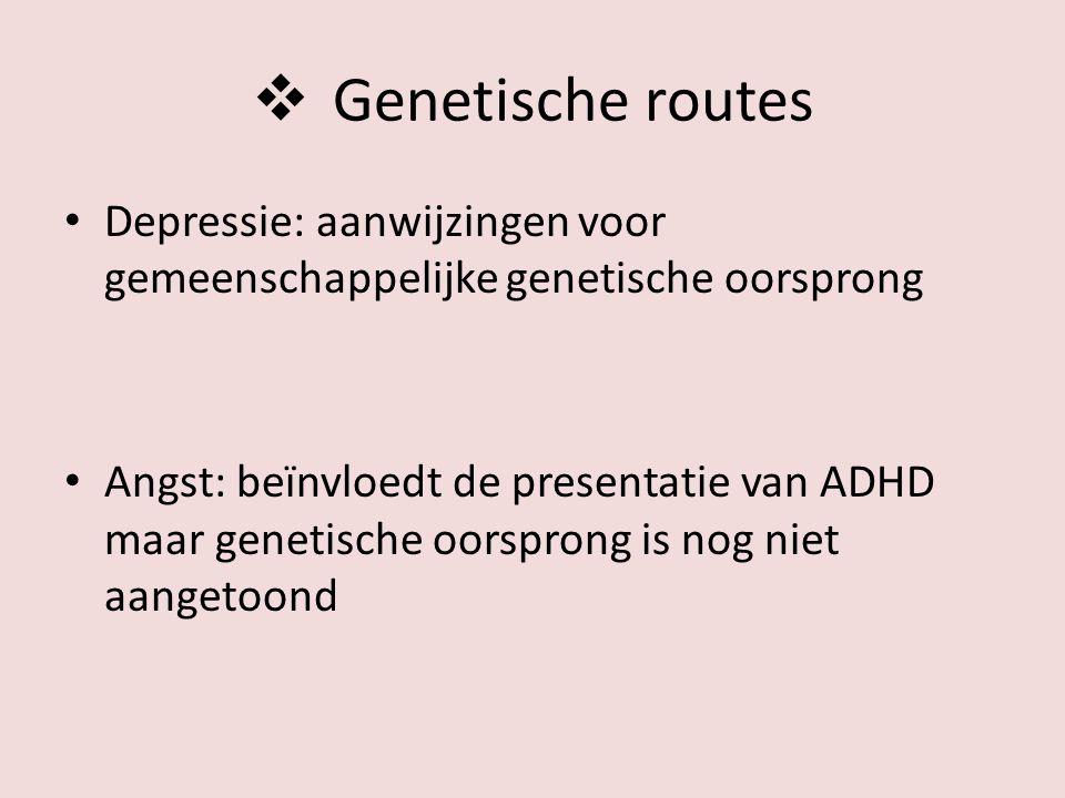 Genetische routes Depressie: aanwijzingen voor gemeenschappelijke genetische oorsprong.